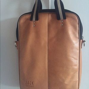 JACK SPADE Carry/Adapt LEATHER LAPTOP BAG